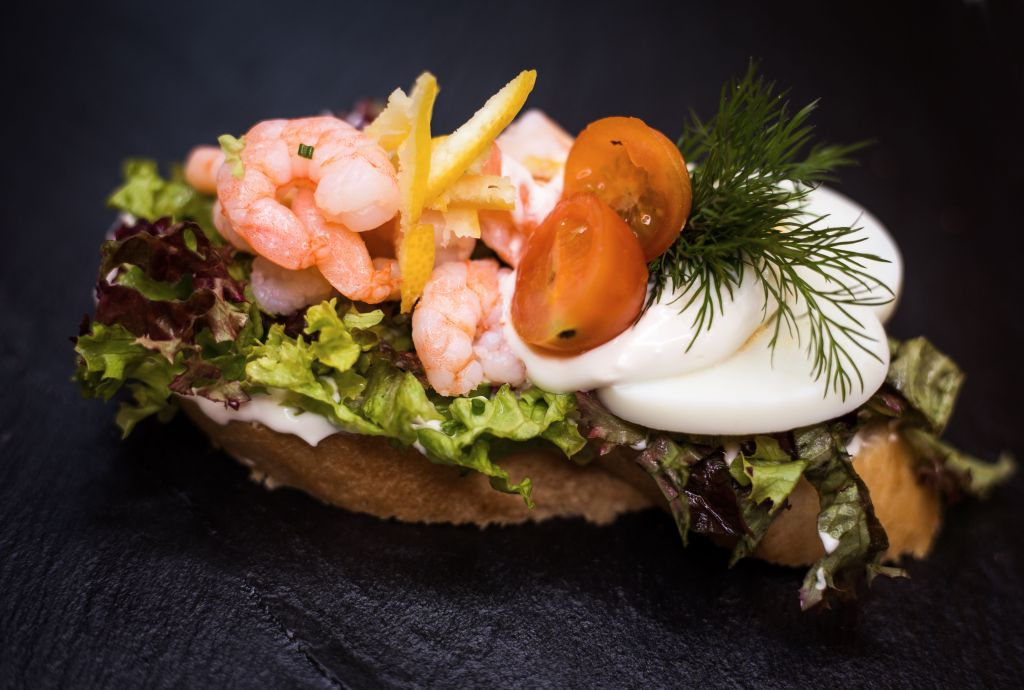 Obrázek - Chlebíček s krevetami