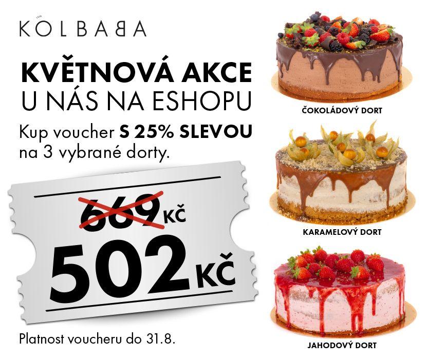 Obrázek - Květnová akce na 3 dorty